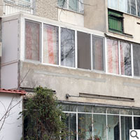 balcon cu acoperis izopan